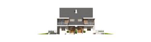 Projekt domu Błażej G2 (bliźniak) - elewacja frontowa