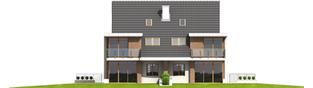 Projekt domu Błażej G2 (bliźniak) - elewacja tylna