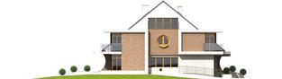 Projekt domu Błażej G2 (bliźniak) - elewacja lewa