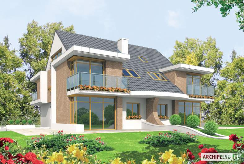 Projekt domu Błażej G2 - wizualizacja ogrodowa