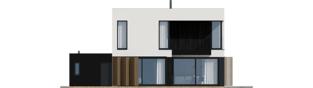 Projekt domu EX 2 G1 ENERGO PLUS - elewacja tylna