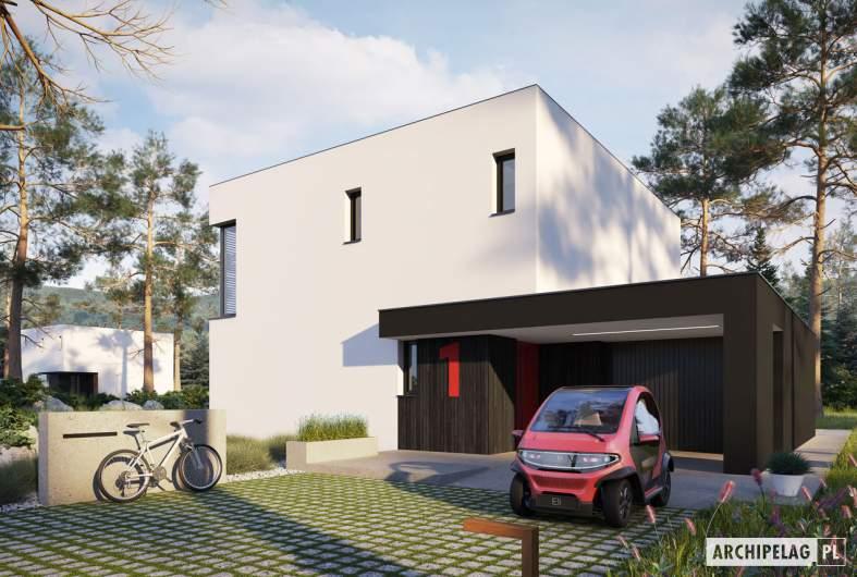 Projekt domu EX 2 G1 ENERGO PLUS - wizualizacja frontowa