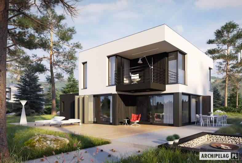 Projekt domu EX 2 G1 ENERGO PLUS - wizualizacja ogrodowa