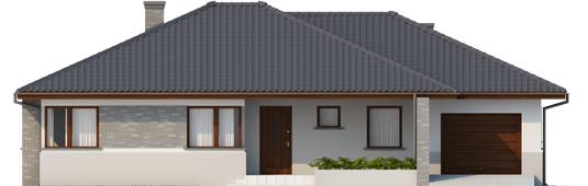 Луціан (Г1) - Projekt domu Lucjan G1 Leca® DOM - elewacja frontowa