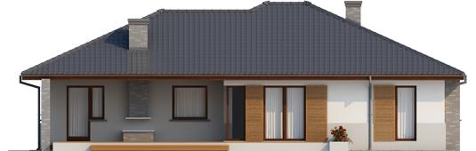 Луціан (Г1) - Projekt domu Lucjan G1 Leca® DOM - elewacja tylna