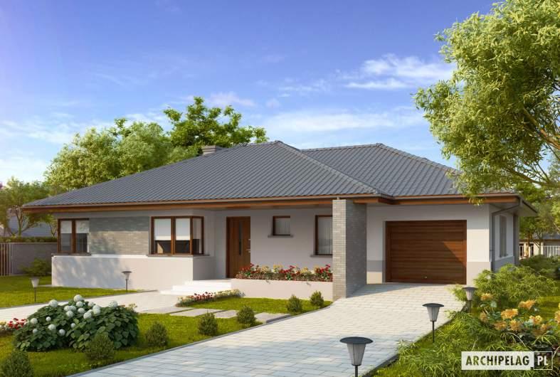 Projekt domu Lucjan G1 Leca® DOM  - wizualizacja frontowa