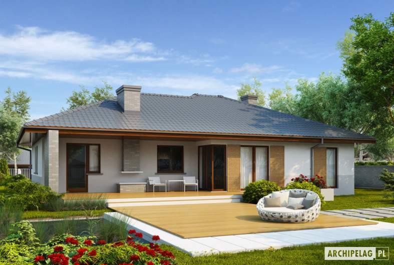 Projekt domu Lucjan G1 Leca® DOM  - wizualizacja ogrodowa