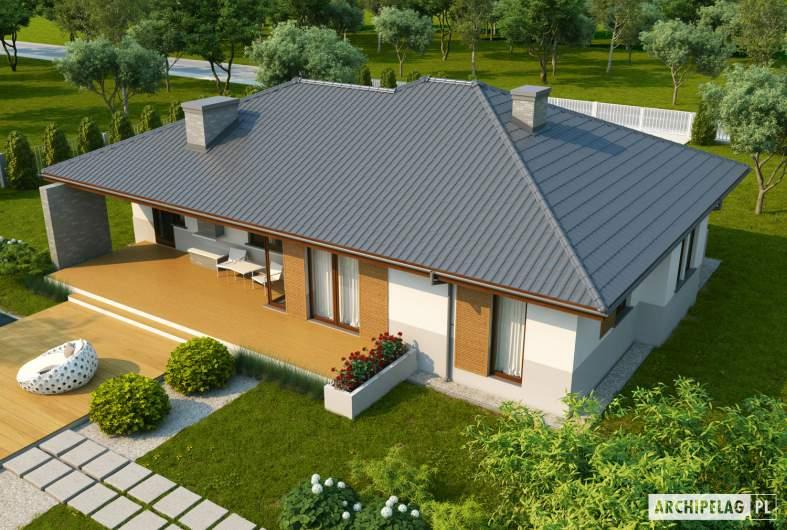 Projekt domu Lucjan G1 Leca® DOM  - widok z góry