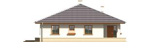 Projekt domu Leda - elewacja lewa