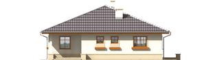 Projekt domu Leda - elewacja frontowa