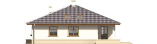 Projekt domu Leda - elewacja prawa