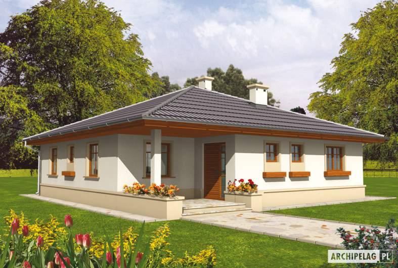 Projekt domu Leda - wizualizacja frontowa