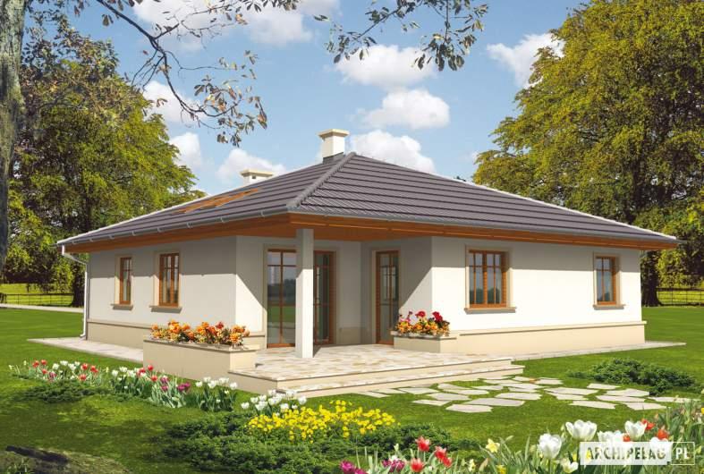 Projekt domu Leda - wizualizacja ogrodowa