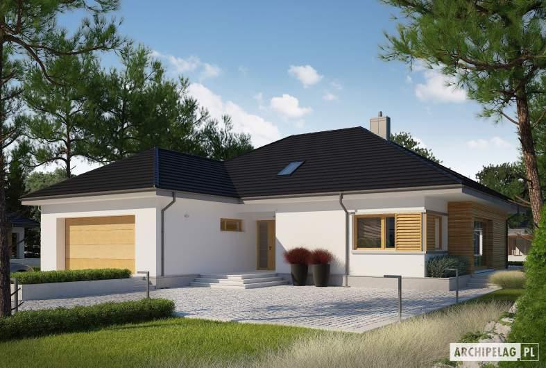 Projekt domu Marcel III G2 ENERGO PLUS - wizualizacja forntowa