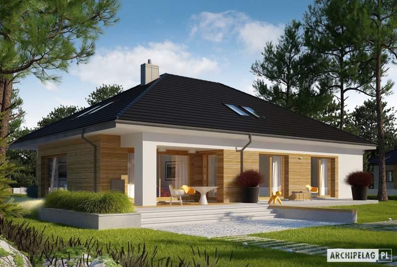 Projekt domu Marcel III G2 ENERGO PLUS - wizualizacja ogrodowa