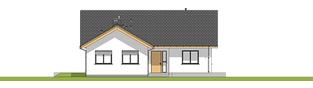 Projekt domu Simon 01 (dwulokalowy) - elewacja frontowa