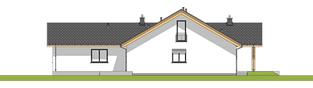 Projekt domu Simon 01 (dwulokalowy) - elewacja prawa