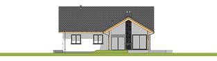 Projekt domu Simon 01 (dwulokalowy) - elewacja tylna
