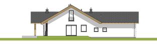 Projekt domu Simon 01 (dwulokalowy) - elewacja lewa