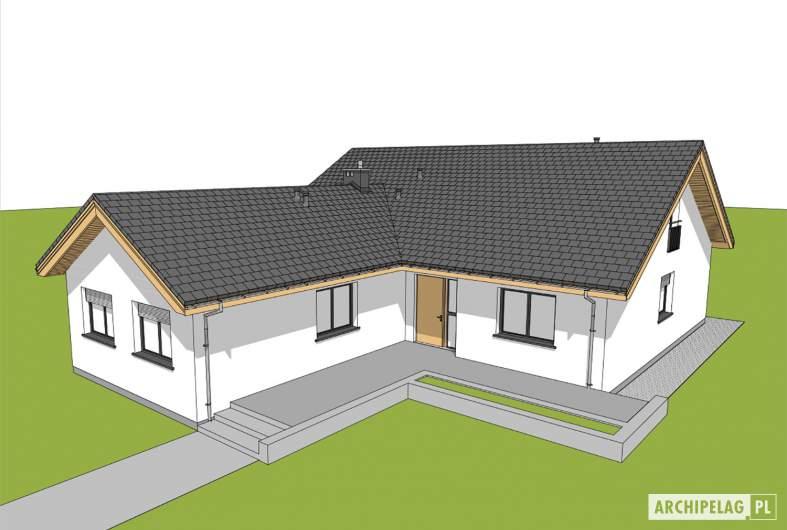 Projekt domu Simon 01 (dwulokalowy) - widok z góry front
