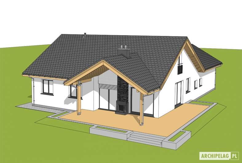 Projekt domu Simon 01 (dwulokalowy) - widok z góry ogród