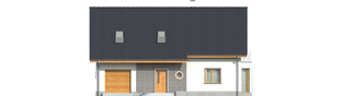 Projekt domu Ben II G1 - elewacja frontowa