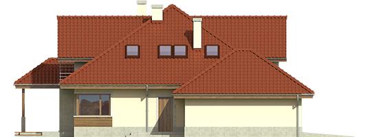 Naomi II G2 A++ - Projekt domu Naomi II G2 - elewacja lewa