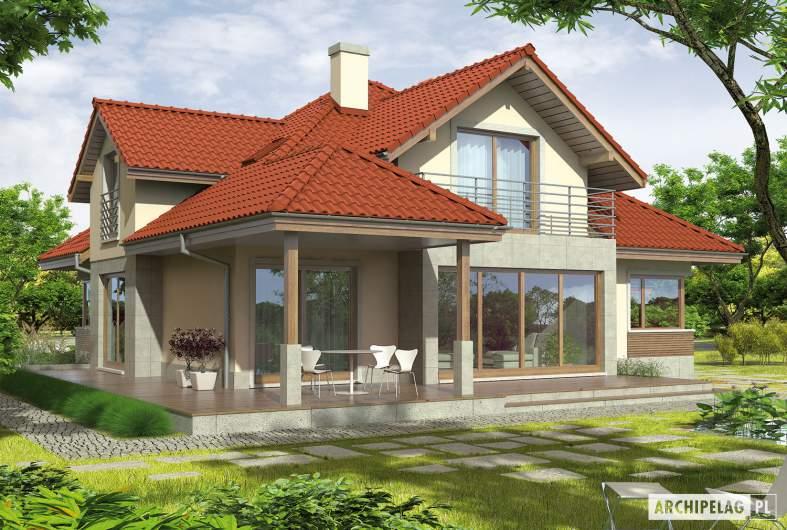 Projekt domu Naomi II G2 - wizualizacja ogrodowa