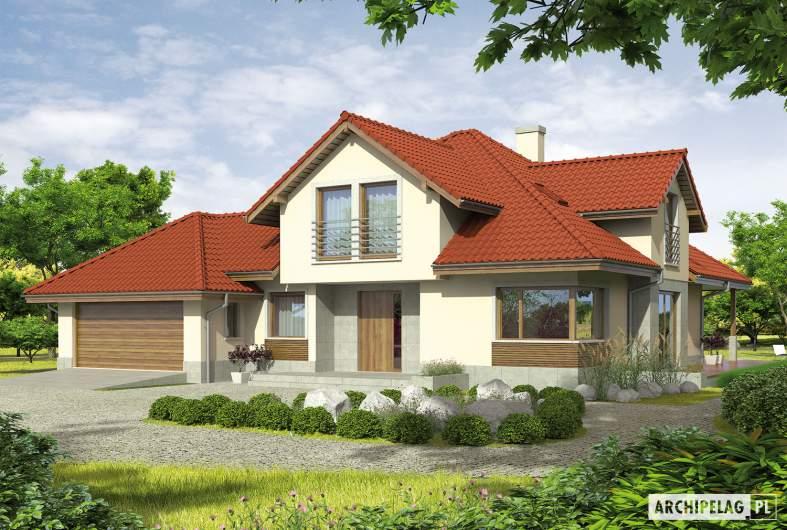 Projekt domu Naomi II G2 - wizualizacja frontowa