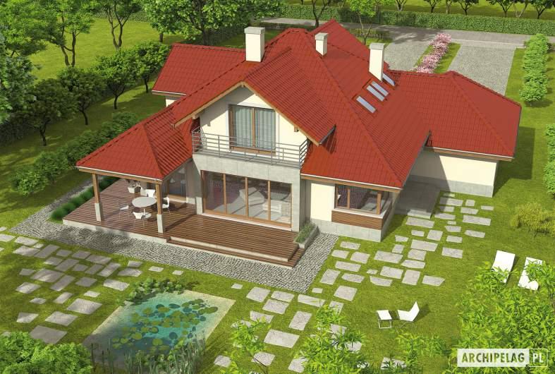 Projekt domu Naomi II G2 - widok z góry