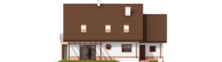 Projekt domu Kajka G1 Mocca - elewacja tylna
