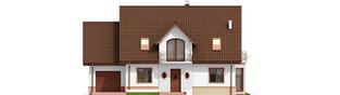 Projekt domu Kajka G1 Mocca - elewacja frontowa