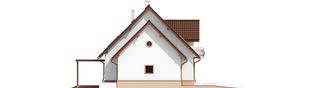 Projekt domu Kajka G1 Mocca - elewacja lewa