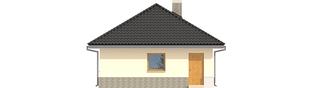 Projekt domu Budynek gospodarczy G25 - elewacja prawa