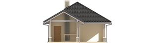 Projekt domu Budynek gospodarczy G25 - elewacja lewa