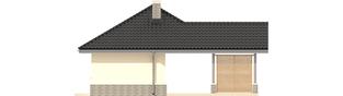 Projekt domu Budynek gospodarczy G25 - elewacja tylna