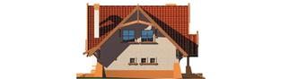 Projekt domu Mariola G1 - elewacja lewa