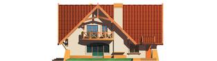 Projekt domu Mariola G1 - elewacja tylna