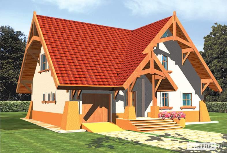 Projekt domu Mariola G1 - wizualizacja frontowa