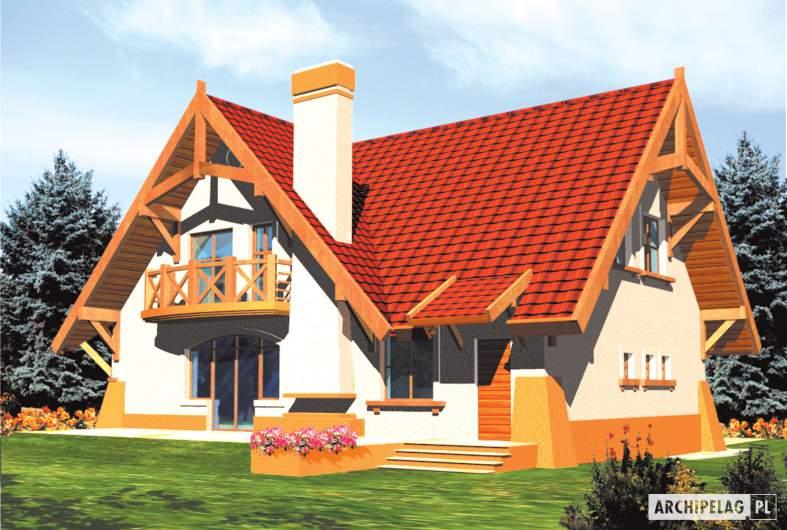 Projekt domu Mariola G1 - wizualizacja ogrodowa