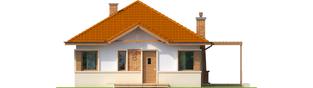 Projekt domu Tosia ENERGO - elewacja frontowa