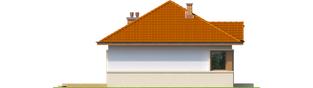 Projekt domu Tosia ENERGO - elewacja lewa