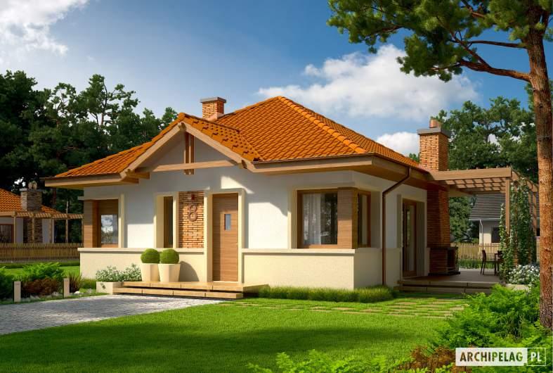 Projekt domu Tosia ENERGO - wizualizacja frontowa