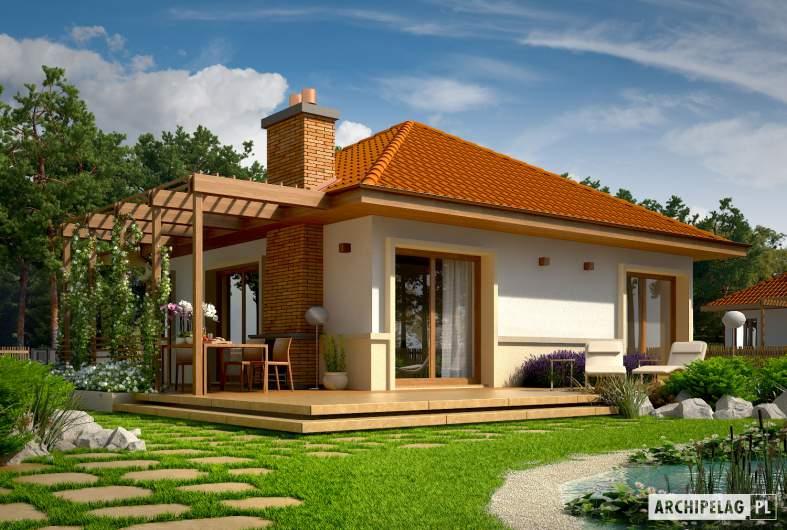 Projekt domu Tosia ENERGO - wizualizacja ogrodowa