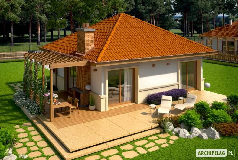 Projekt domu Tosia ENERGO - widok z góry