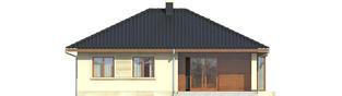 Projekt domu Margo (30 stopni) - elewacja tylna