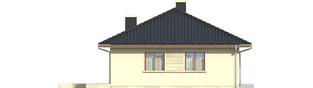 Projekt domu Margo (30 stopni) - elewacja prawa