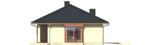 Projekt domu Margo (30 stopni) - elewacja frontowa