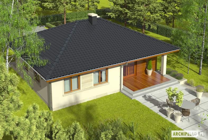 Projekt domu Margo (30 stopni) - widok z góry