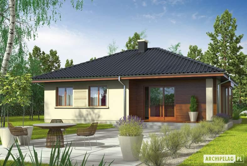 Projekt domu Margo (30 stopni) - wizualizacja ogrodowa